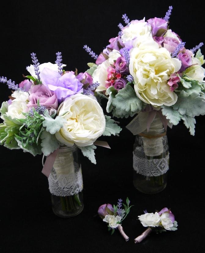 Silk Bridal Bouquet Sets